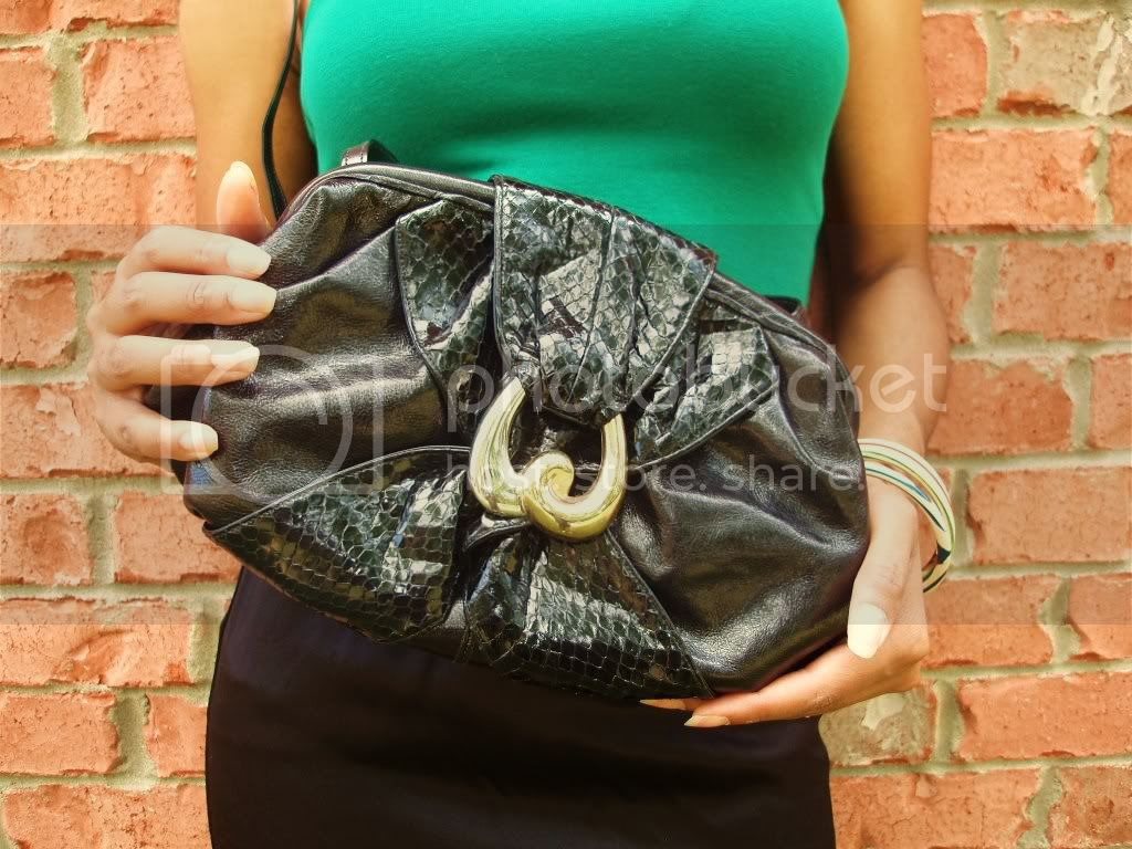 vintage 1980's SHARIF Snake Skin Purse